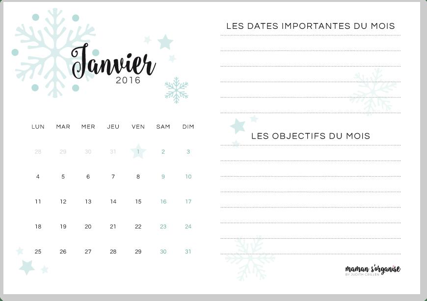 Cliquez ici pour télécharger votre calendrier de janvier 2016