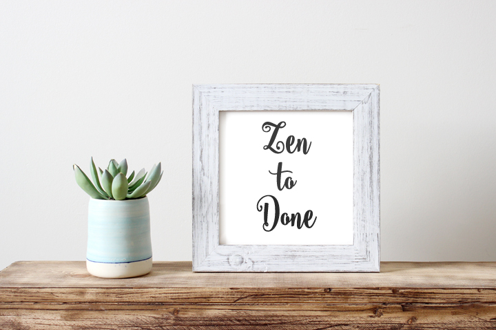 S'organiser avec la méthode Zen to Done