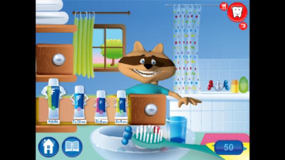 Mon raccoon brosse à dents