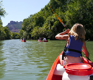 balade canoe roquebrune
