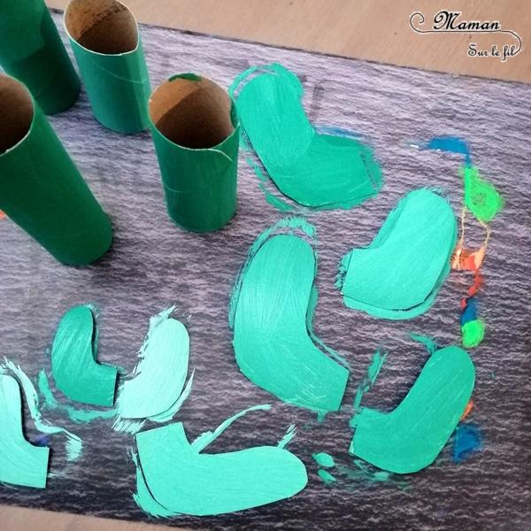 Activité créative enfants - Famille cactus avec des rouleaux de papier toilette - PQ et récup - recyclage surcyclage - Amérique du sud - Mexique - Carton emballage, peinture, graphisme, yeux mobiles - activités autour du monde - Arts visuels Découverte d'un pays - Espace et géographie - bricolage - arts visuels Cycle 1 ou 2 - Eté - mslf