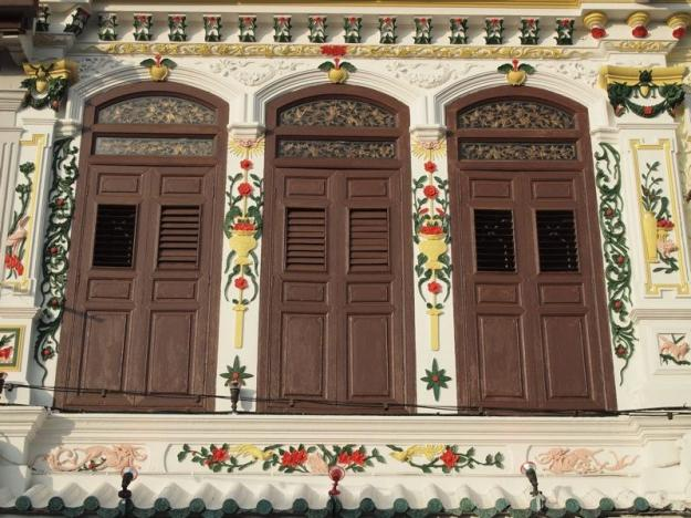 façade Malacca chinatown