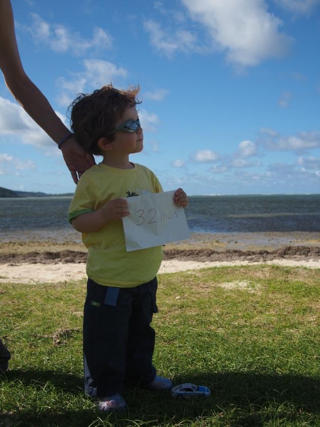 Ticoeur fête ses 32 mois à l'île Maurice