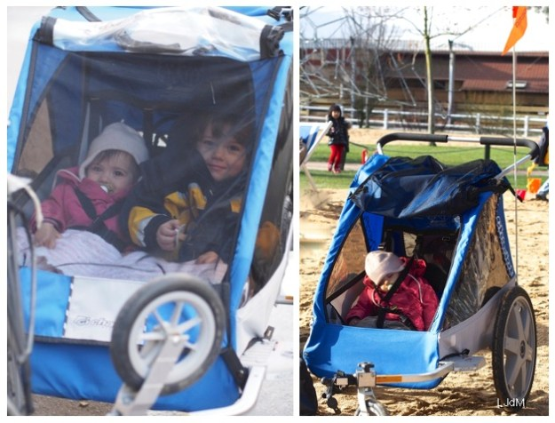 remorque vélo deux enfants