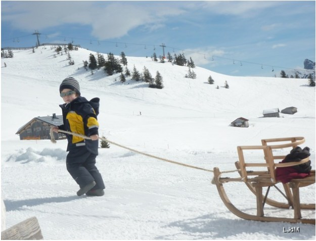 ski avec les enfants