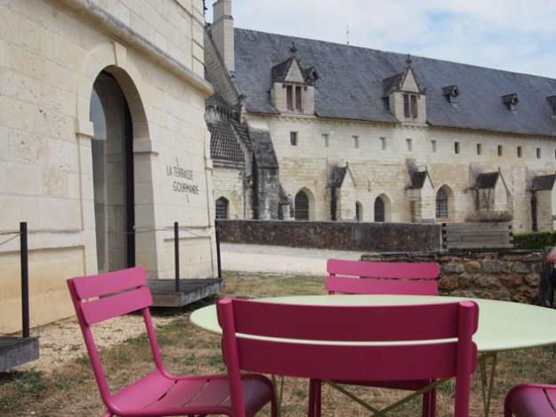 déjeuner à l'abbaye de Fontevraud