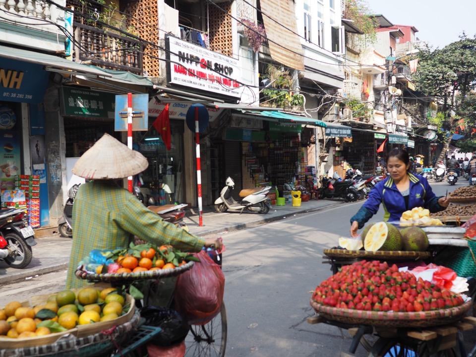 dans les rues de Hanoi