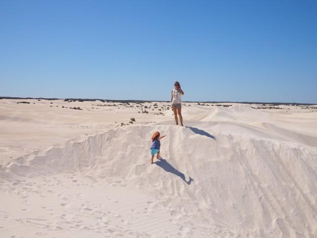 dunes de Lancelin en famille