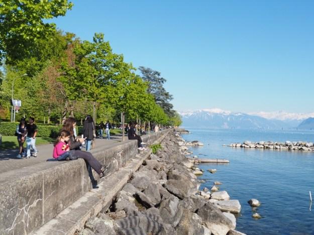 en famille à Lausanne