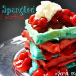 Star Spangled Velvet Waffles for 4th of July!