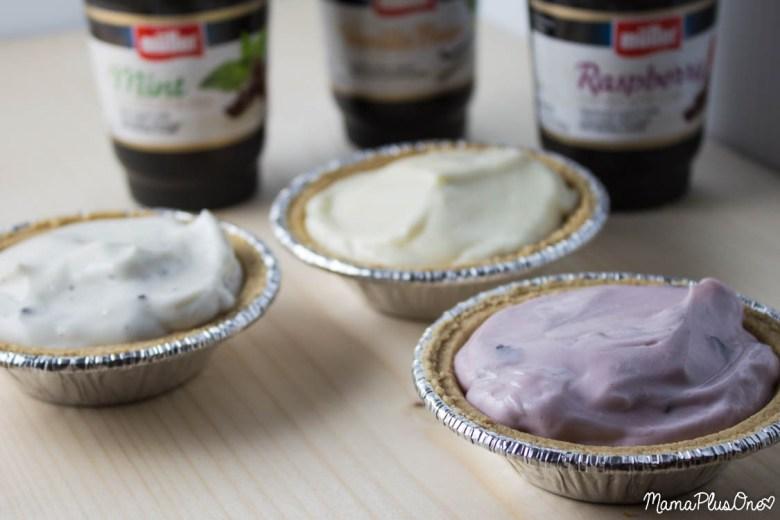 Ice Cream Sundae Yogurt Pies featuring Muller Ice Cream Inspired yogurt   dessert   breakfast   chocolate   ice cream   #mullermoment #ad #cbias