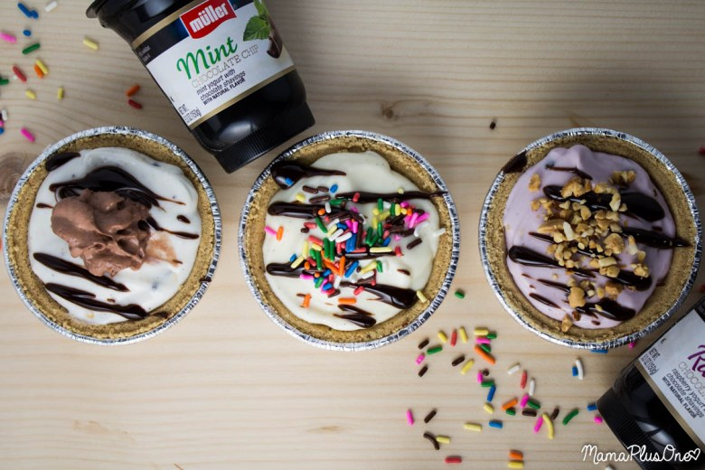 Perfect for breakfast, brunch, or lunch, these yogurt mini pies using Muller Ice Cream Inspired Yogurt flavors are great for any time! And, as a good source of protein, they'll keep you full. #ad #cbias #mullermoment