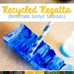 Recycled Regatta: How to Make Sailboats out of Recycled SunnyD Bottles