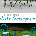 Weekend DIY: Table and Chairs Makeover!