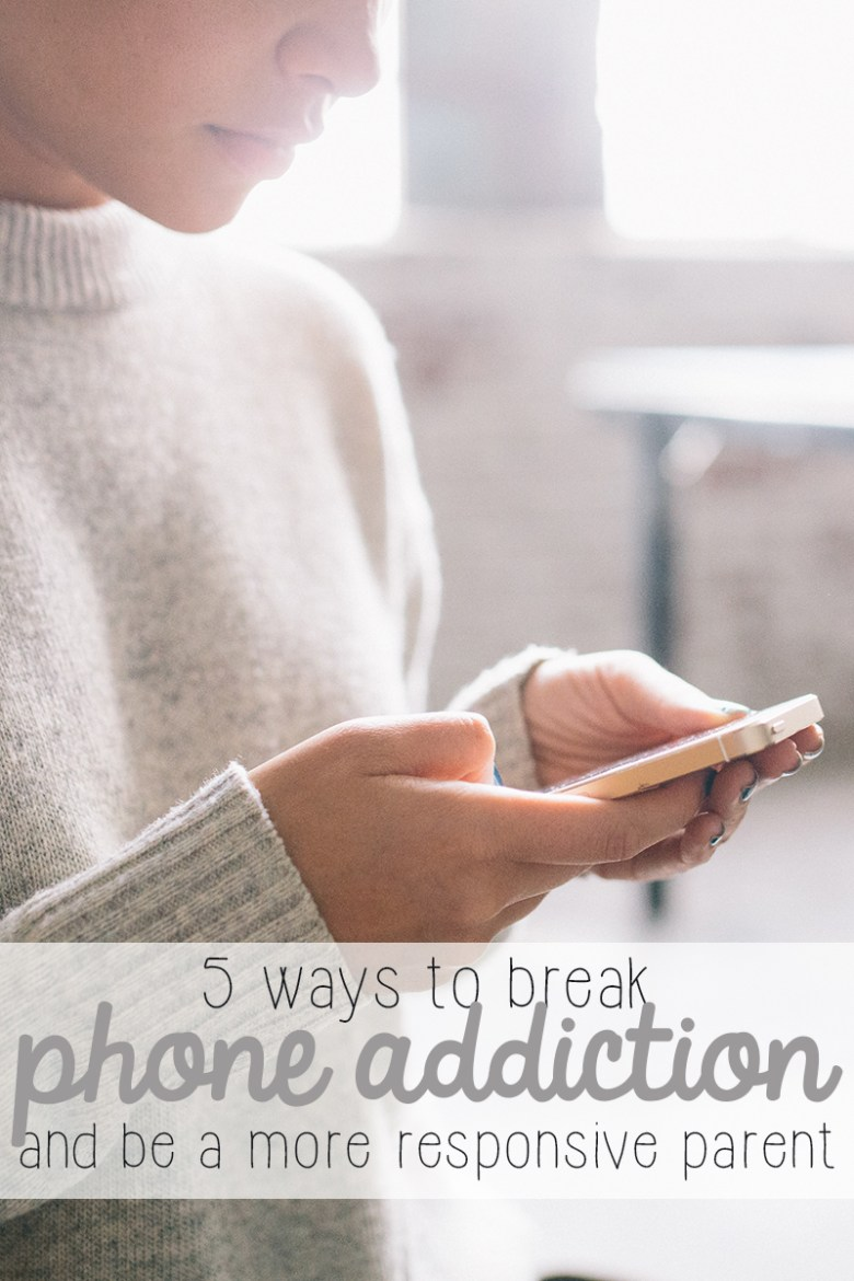 Do you have a New Year's Resolution to stop staring at your phone so much? Or maybe you just want to break the cycle of cell phone addiction and see the world around you. This post has tips on 5 ways to help break phone addiction and help you interact with your kids more. | parenting | self care | self help | phone addiction | internet addiction |