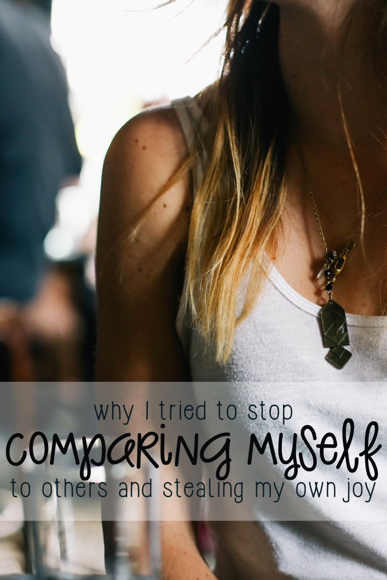When you play the comparison game, you ALWAYS lose. I finally found out that I needed to quit the comparison game and stop stealing my own joy!