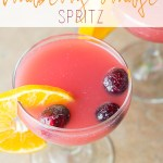 Cranberry Orange Spritz Mocktail
