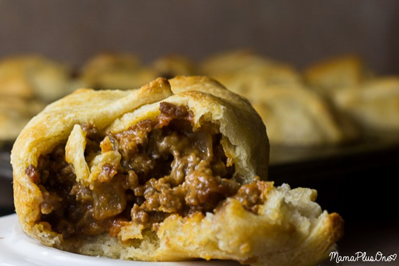 """Need an easy weeknight meal? These sloppy joe pockets fit the bill! With all of the great flavor of sloppy joes and none of the actual """"sloppy,"""" they're sure to be something the whole family will adore. 