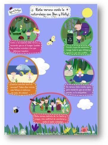 Ben y Holly: consejos para cuidar la naturaleza en verano