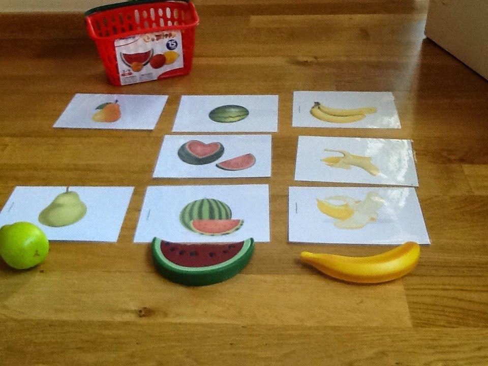 juego con frutas y verduras