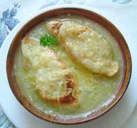 Bild von Überbackene Zwiebelsuppe