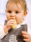 Baby Eating a Teething Biscuit