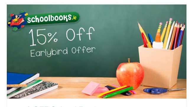 Schoolbooks.ie 15 % off coupon code
