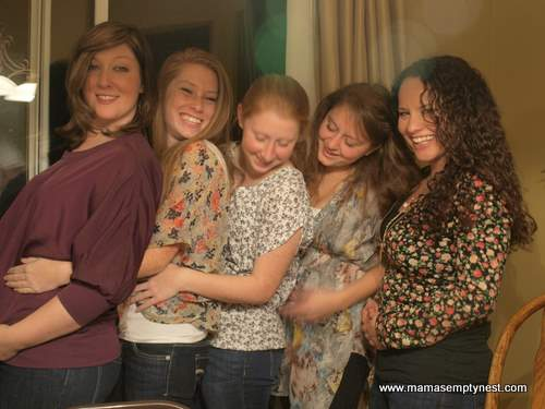 Our five girls and their food babies