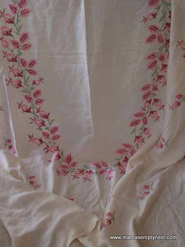 Linen tablecloth drapery 1