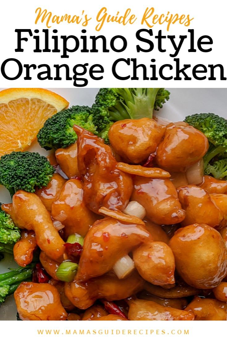 Filipino Style Orange Chicken