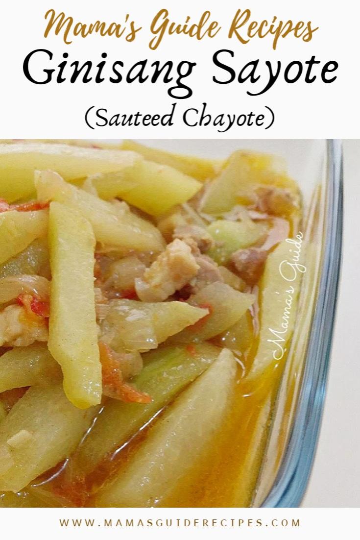 Ginisang Sayote Sauteed Chayote Mama S Guide Recipes
