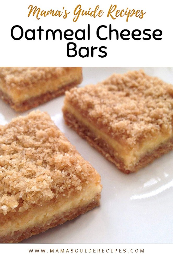 Oatmeal Cheese cake bars