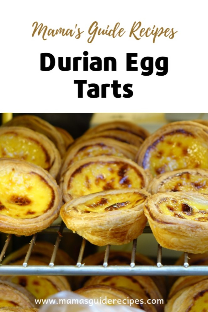 DURIAN EGG TARTS RECIPE