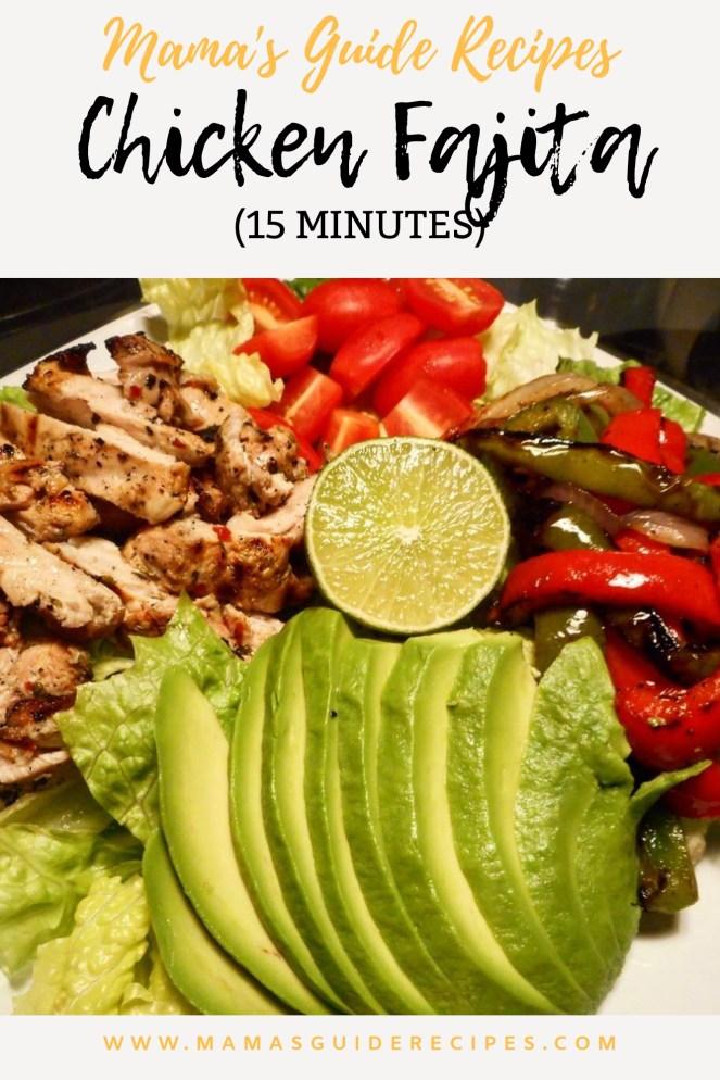 15 minutes Chicken Fajita Salad (DietMeal)
