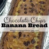 Chocolate Chips Banana BreadRecipe