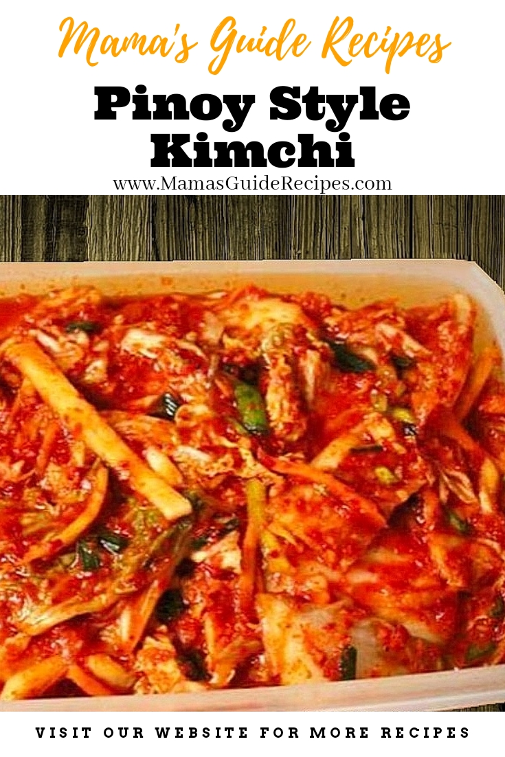 Pinoy Style Kimchi