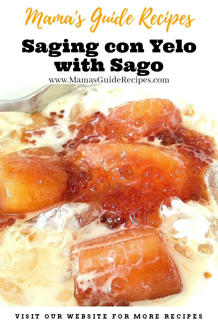 Saging Con Yelo with Sago
