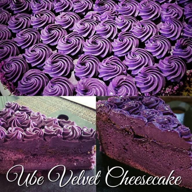Ube Velvet Cheesecake