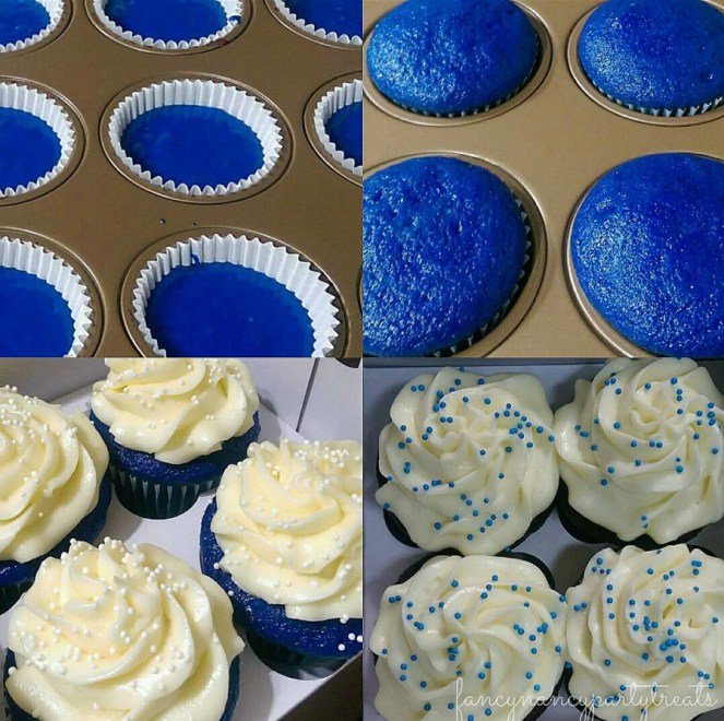 Blue Velvet Cupcakes (with buttercream icing)