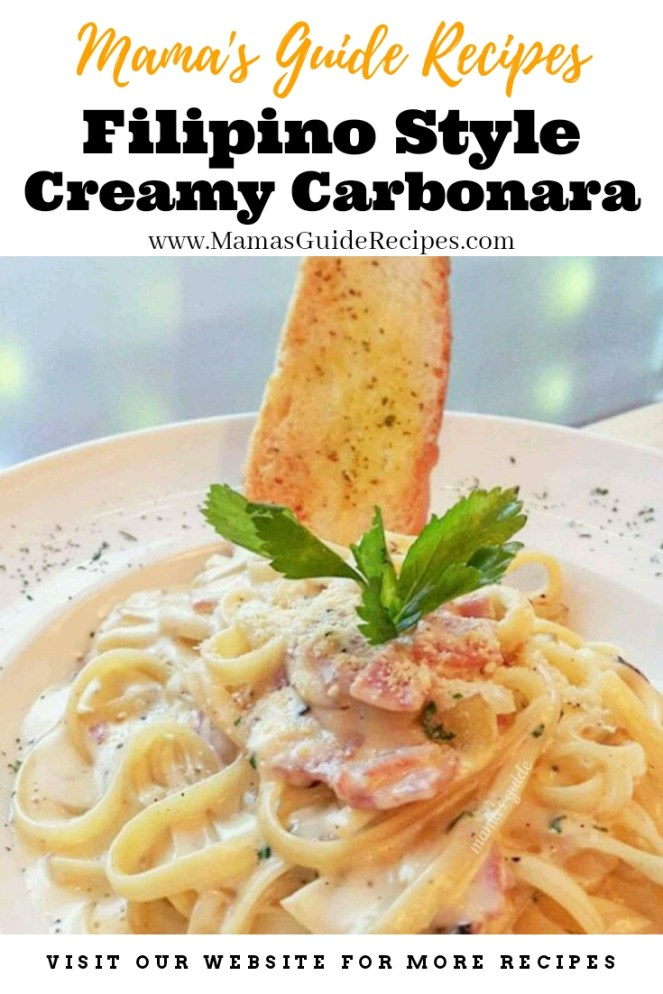 Filipino Style Creamy Carbonara