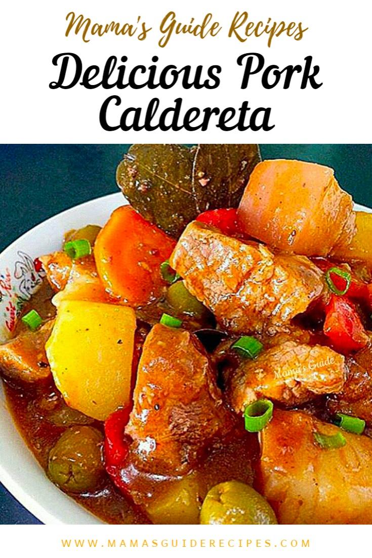 Delicious Pork Caldereta
