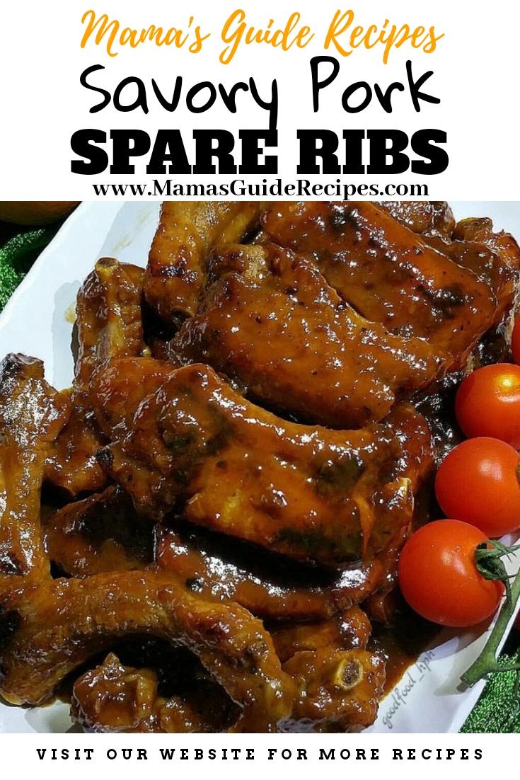 Savory Pork Spareribs