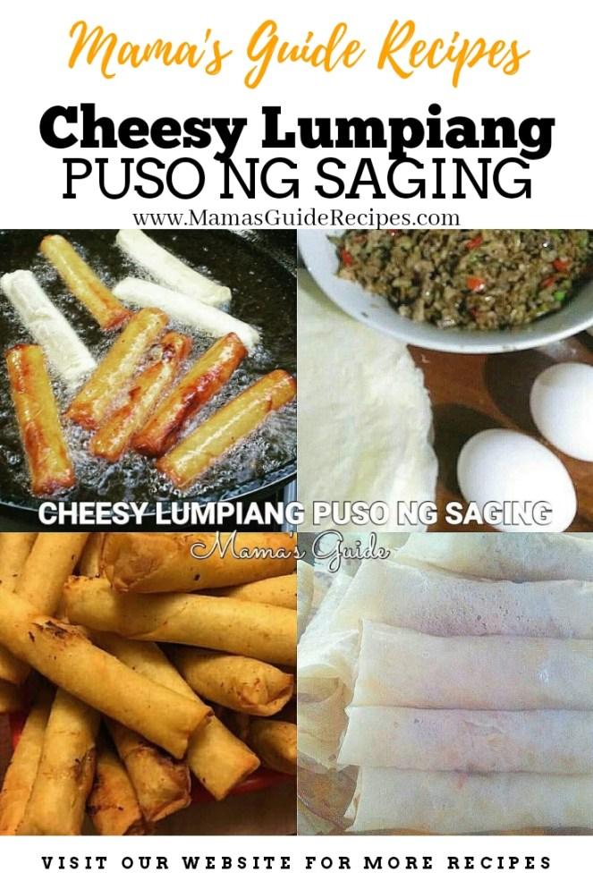Cheesy Lumpiang Puso ng Saging