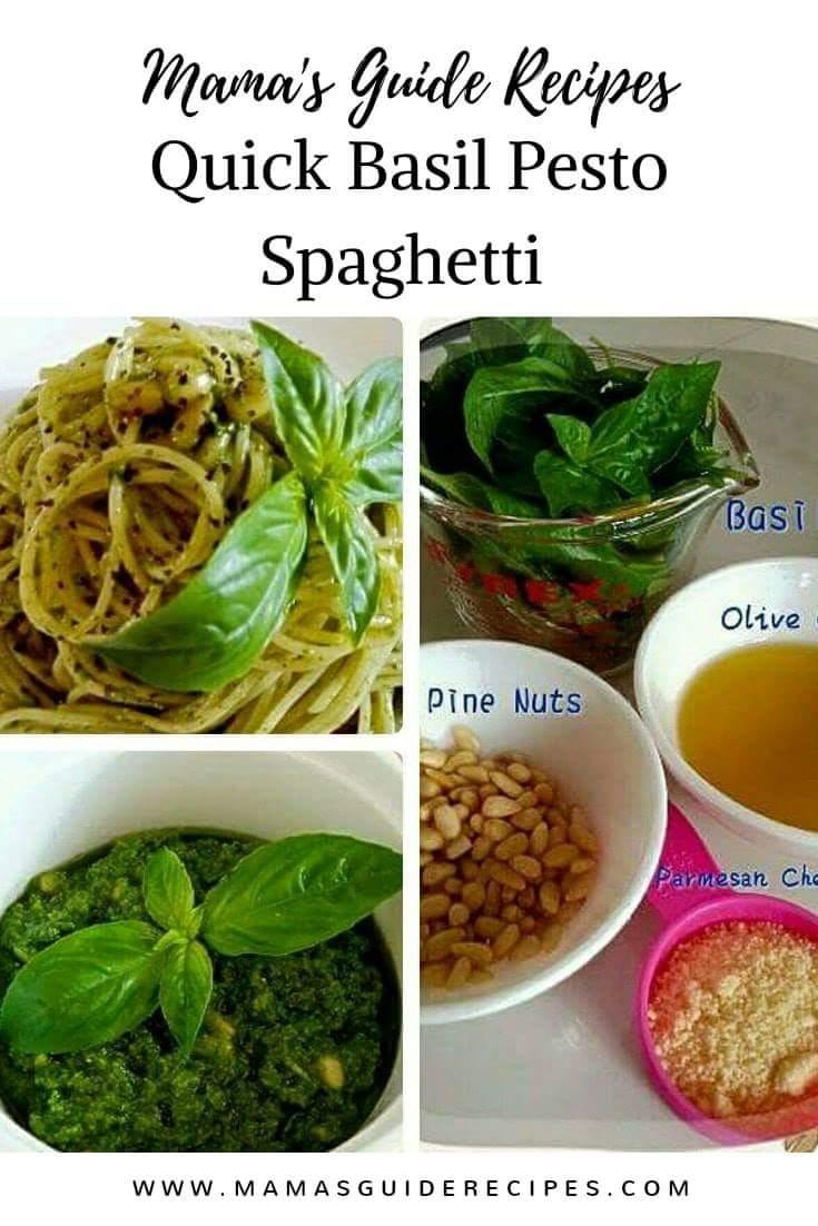 Quick Basil Pesto Spaghetti