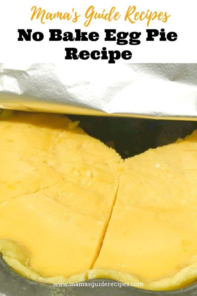 No Bake Egg Pie Recipe