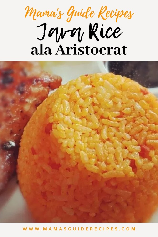 Java Rice Ala Aristocrat