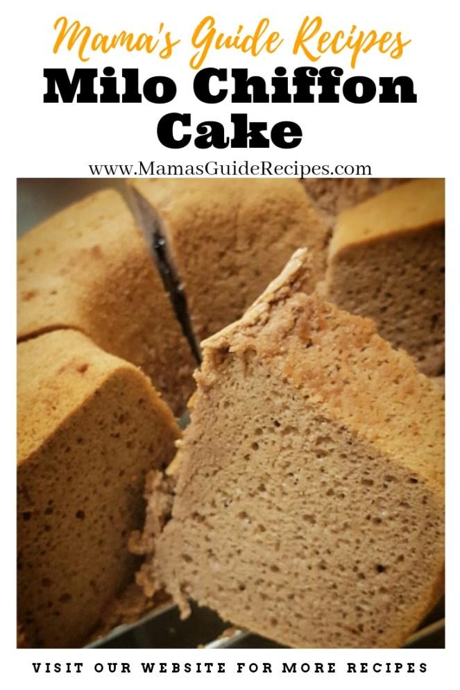 Milo Chiffon Cake