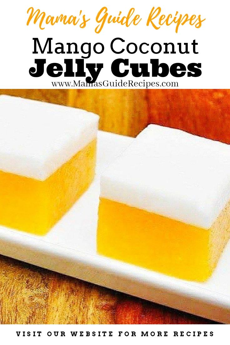 Mango Jelly Coconut Cubes