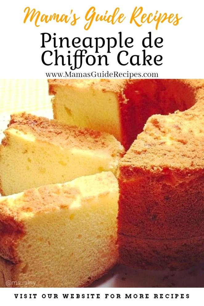Pineapple de Chiffon Cake
