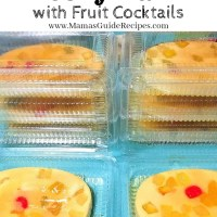 Jelly Flan with Fruit Cocktails